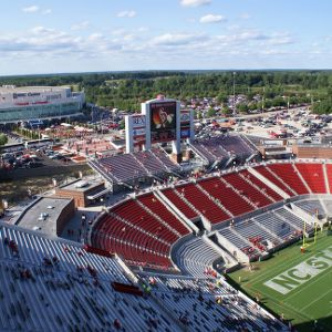 Carter-Finley Stadium, overhead view