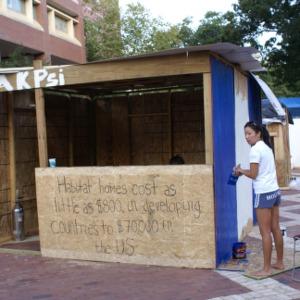 Shack-A-Thon fundraiser for Habitat for Humanity, 2006: Alpha Kappa Psi's shack