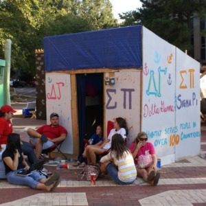 Shack-A-Thon fundraiser for Habitat for Humanity, 2007: Delta Gamma and Sigma Pi