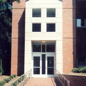 Entrance to Clark Hall