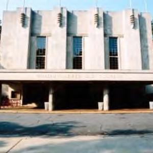 Entrance to Reynolds Coliseum