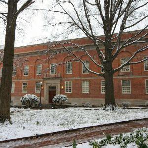 Peele Hall, snow day