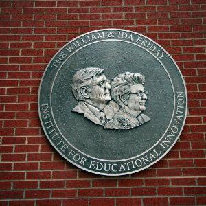 Friday Institute, William and Ida Friday plaque