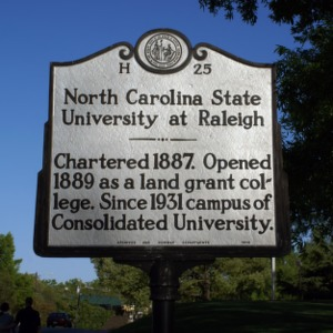 North Carolina State University historical marker