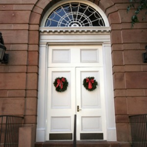 Holladay Hall, front doors