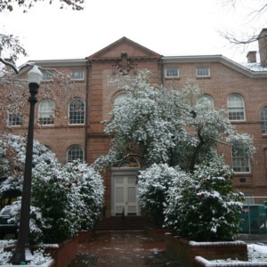 Holladay Hall, snow day