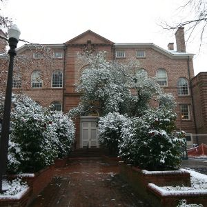 Holladay Hall, snow day