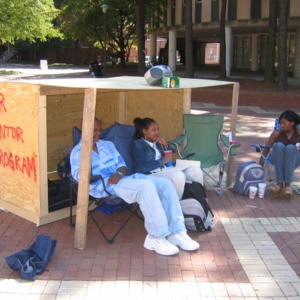 Shack-A-Thon fundraiser for Habitat for Humanity, 2004: National Society of Black Engineers and Peer Mentor Program