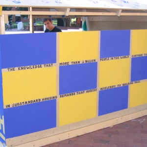 Shack-A-Thon fundraiser for Habitat for Humanity, 2004: Phi Sigma Pi