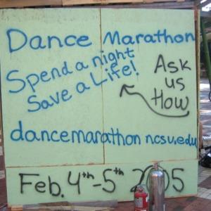 Shack-A-Thon fundraiser for Habitat for Humanity, 2004: NCSU Dance Marathon