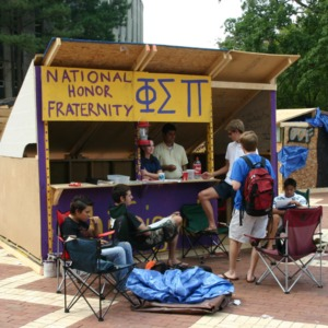 Shack-A-Thon fundraiser for Habitat for Humanity, 2005: Phi Sigma Pi