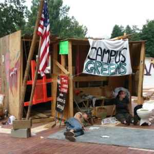 Shack-A-Thon fundraiser for Habitat for Humanity, 2005: Campus Greens