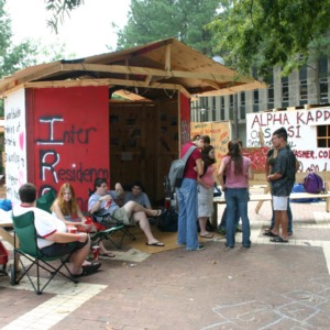Shack-A-Thon fundraiser for Habitat for Humanity, 2005: Inter-Residence Council