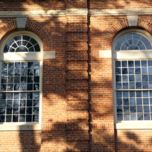 Leazar Hall windows, exterior