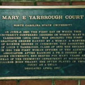 Mary E. Yarborough Court marker