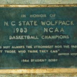 Marker on brickyard honoring the 1983 National Champion Basketball Team