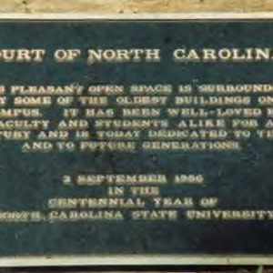 Court of North Carolina plaque