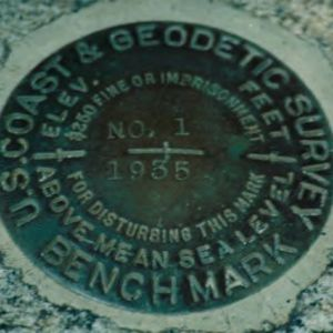 1935 Geodetic Survey marker
