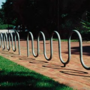 Bike rack on campus