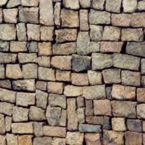 Rock wall near coliseum parking deck