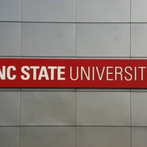 North Carolina State University sign