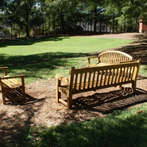 Benches near Lee Residence Hall