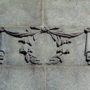 Relief on Memorial Bell Tower