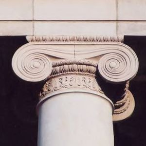 Ionic column, Ricks Hall