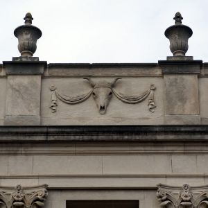 Ornamentation on Polk Hall