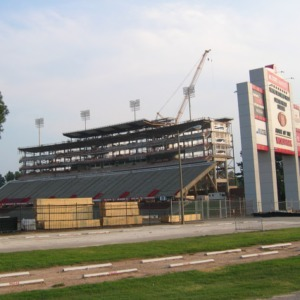 Carter-Finley Stadium, construction of Vaughan Towers