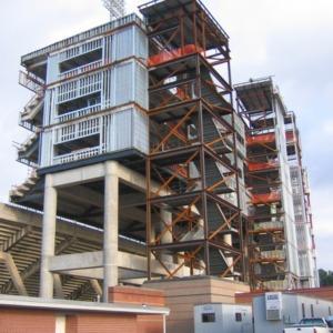 Carter-Finley Stadium, construction of Vaughan Towers