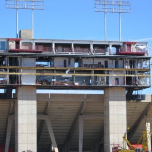 Carter-Finley Stadium, old press box destruction