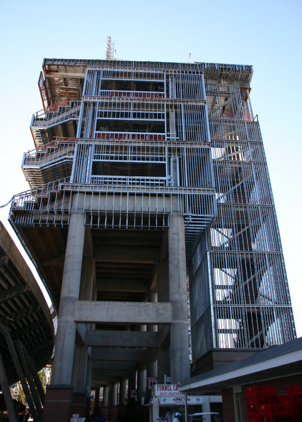 Carter-Finley Stadium, Vaughan Towers construction