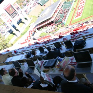 Carter-Finley Stadium, press box, Vaughan Towers