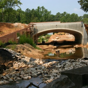 Pullen Road and Rocky Branch Project construction site