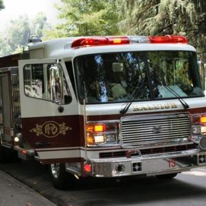 Firetruck in Raleigh