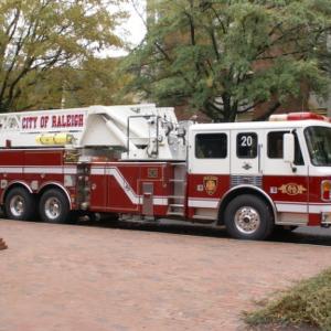 Firetruck on NCSU's campus