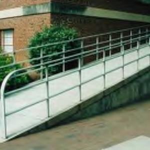 Walkway with railing