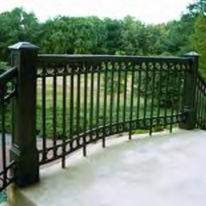 Railing in front of Page Hall