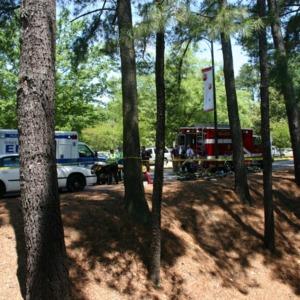 Reynolds Coliseum fire, emergency vehicles