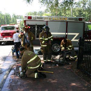 Reynolds Coliseum fire, firemen