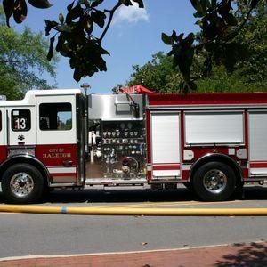 Reynolds Coliseum fire, firetruck