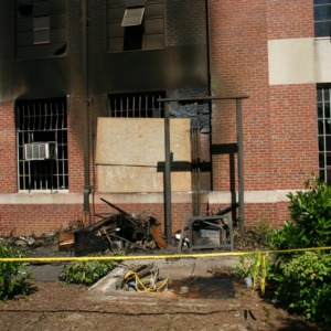Reynolds Coliseum, fire damage