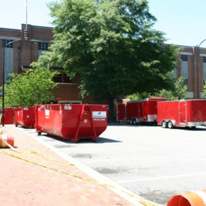 Reynolds Coliseum, fire clean-up