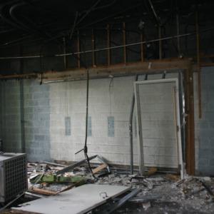 Reynolds Coliseum, fire clean-up