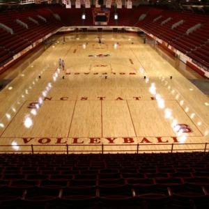 Reynolds Coliseum, repainted floor