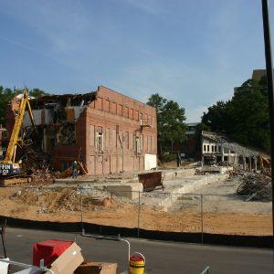 Morris Building and Riddick Stadium demolition