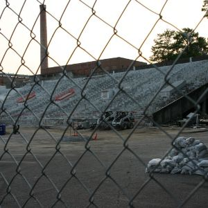 Riddick Stadium, West Stands
