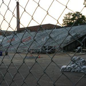 Riddick Stadium, West Stands