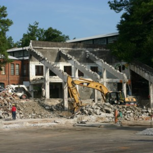 Riddick Stadium, West Stands, demolished